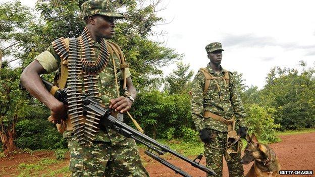 Members of UPDF in operation ...
