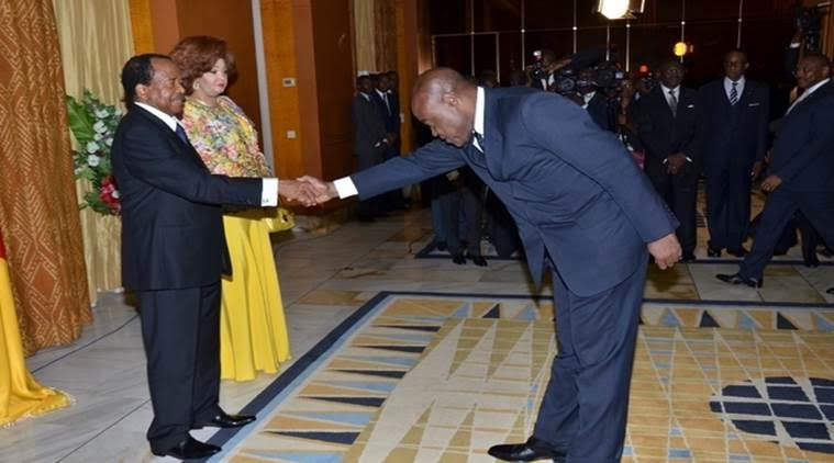 Greeting an African President.....