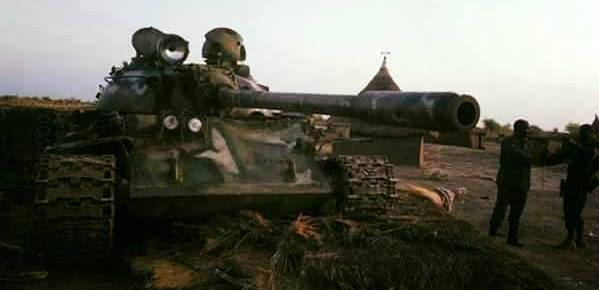 A south sudan government tank that was recently captured in Kuek, Northern Upper Nile(Photo: file)