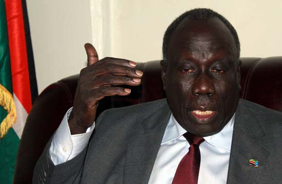 Gen. Alfred Lado Gore, the minister of Environment, a former deputy chairman of SPLM/A-IO . Lado was bypassed by Taban Deng Gai and switched to a less influential position in the new TGNU(Photo: file)