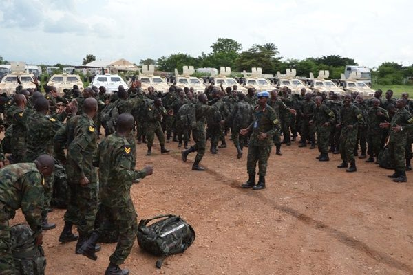 The arrival of the first batch of the regional protection force in South Sudan's Juba(Photo: supplied)