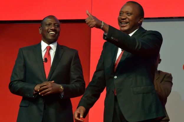 President Elect Hon. Uhuru Kenyatta and his deputy William Ruto(Photo: file)