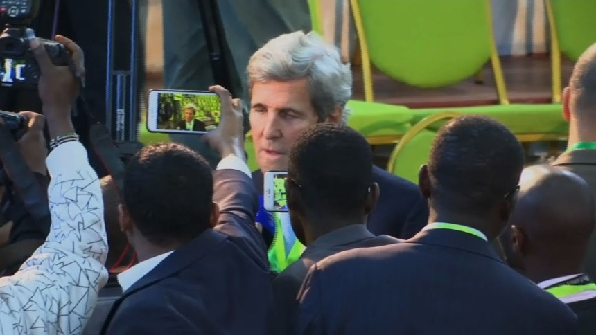 Former U.S Secretary of State, John Kerry. making a statement in support of Kenyan election results that were later over turned by the court for irregularities(Photo: file)