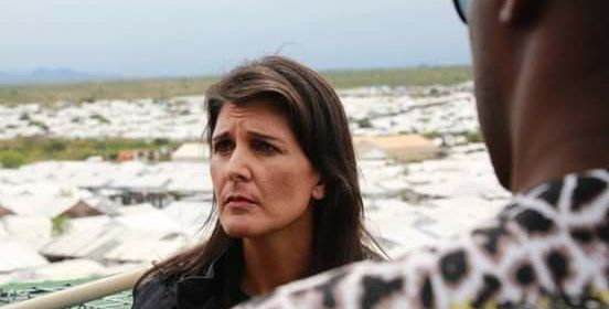 Nikki Haley, the US Ambassador to the United Nations visits South Sudan(Photo: file)