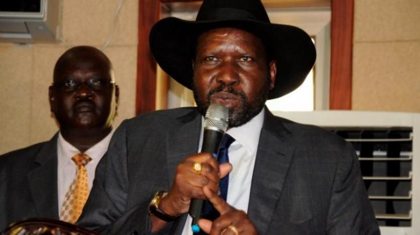 South Sudan's incumbent address the media at his J1 palace(Photo: file)