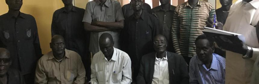 Elders of Rupkhona County meeting in Khartoum, Sudan, to declare their community position following defection of Lt. Gen. Ruai Kuol, former Governor of Lich State(Photo: supplied)