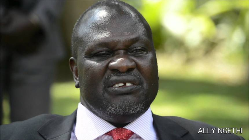 Dr. Riek Machar Teny, chairman and commander-in-chief of the SPLM/A-IO(Photo credit: Ally Ngethi)