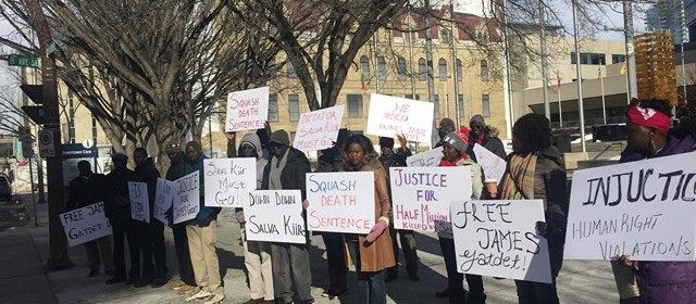 South Sudanese Canadians marched to the streets in Calgary, Alberta, Canada, calling for Salva Kiir must go and Gatdet must be released(Photo: file)