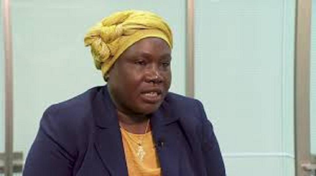 Angelina Jany Teny speaking to the BBC's Focus on Africa (BBC photo contesy)