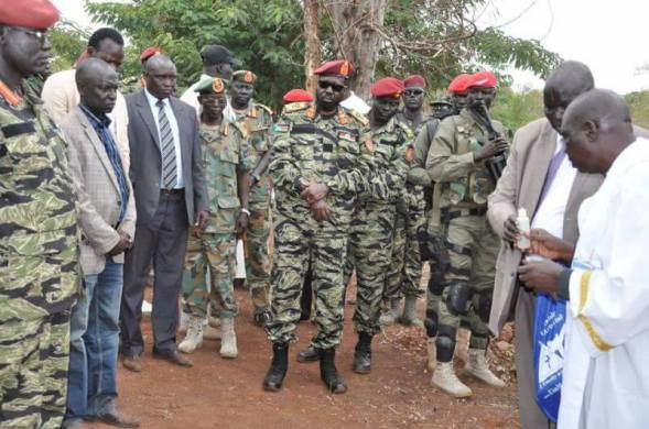 President Salva Kiir during a short visit to border town of Nimule(Photo: file)