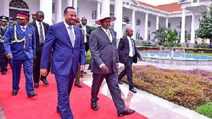 Ugandan President welcomes Ethiopian Premier to the State house (File photo)