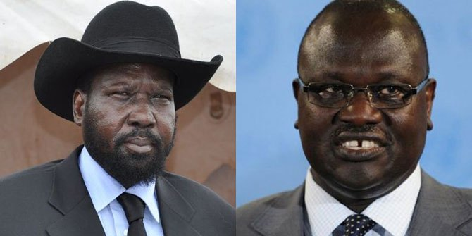 South Sudan's President Kiir (L) and Former FVP Riek Machar (R) (File photo)