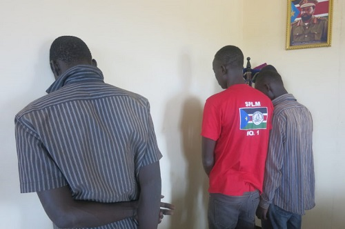 Three suspects accussed of killing two women and raping a 15 year old girl in Juba (Credit, Eye Radio photo)