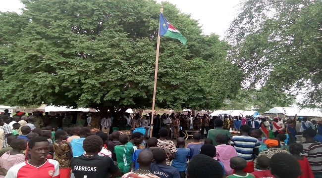 South Sudan Citizens in Phow State gather as the country marks seven years since independence (Nyamilepedia Photo)