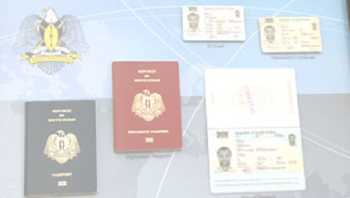 South Sudan national documents (File photo)