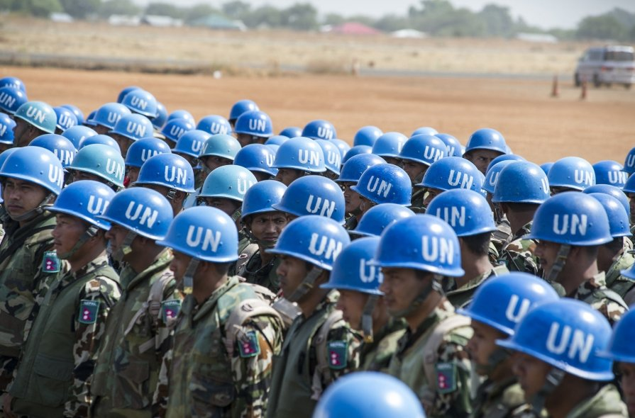 Nepalese peacekeepers as they arrives at Wau Airport (File photo)