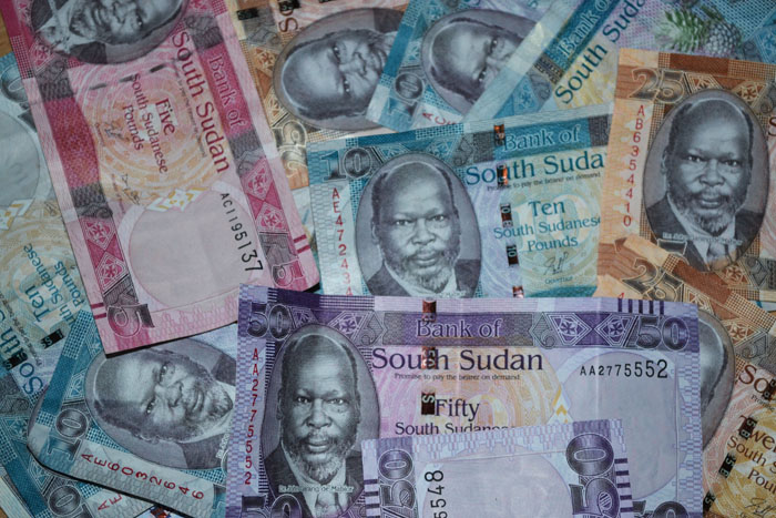 South Sudan currency (File photo)
