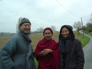 Myong An Sunim, me & Catholic Sister