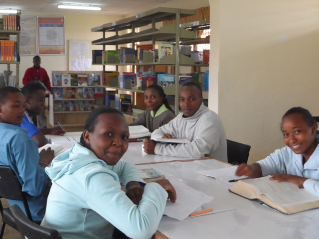 Students in The Library