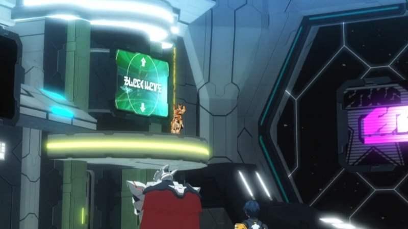 【PSO2アニメ:2話】ロビーの上に登ってる人