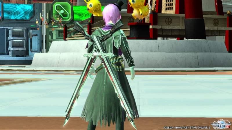 【PSO2】シャイニング・レゾナンスコラボの武器迷彩「*双魔銃剣アンフィスバエナ」