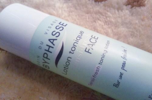 revue de la lotion toniue byphase pour peaux sensibles