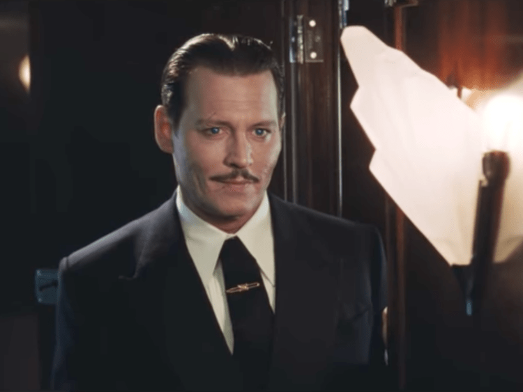 johny deep dans le film murder on the orient express