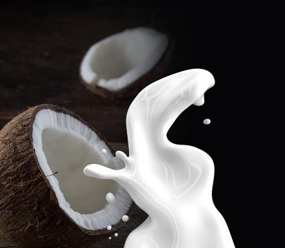lait de coco pour un teint lumineux