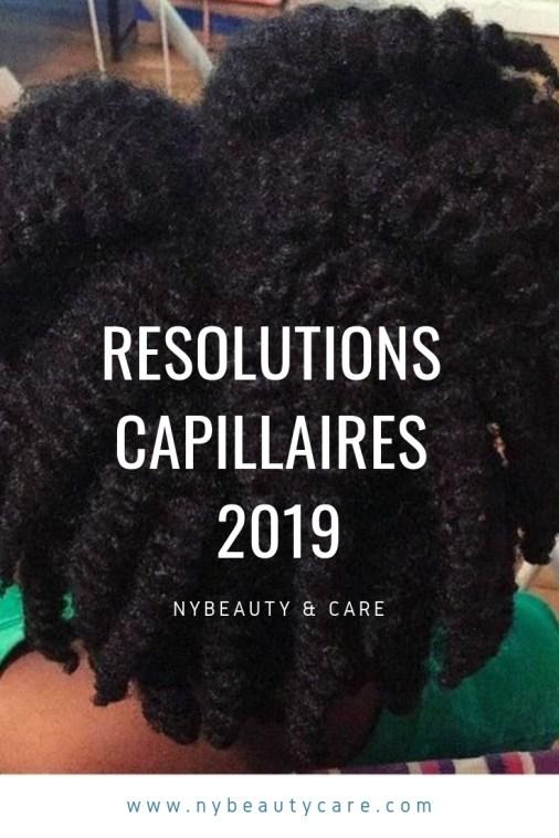 Résolutions capillaires et du blog pour 2019