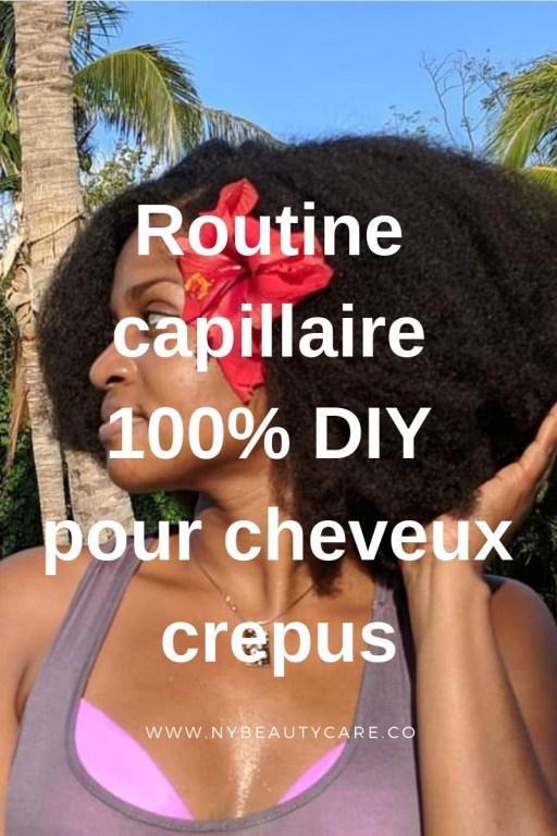 des soins DIY prepoo, shampoing, masque hydratant, leave-in et huile scellantes pour des cheveux crépus