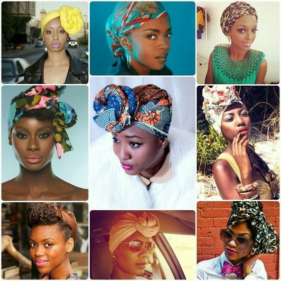 styles de coiffures avec foulards