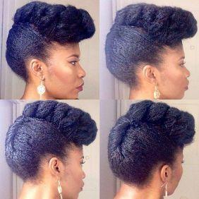 coiffures cheveux afro pour le travail