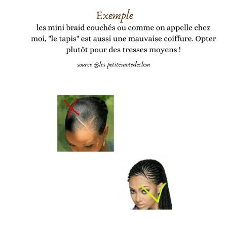 Eviter les coiffures trop sérrés