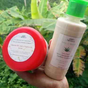 produits hydratants : traitement instense pour cheveux ses et fragile et leave-in hydratant à base d'aloe vera