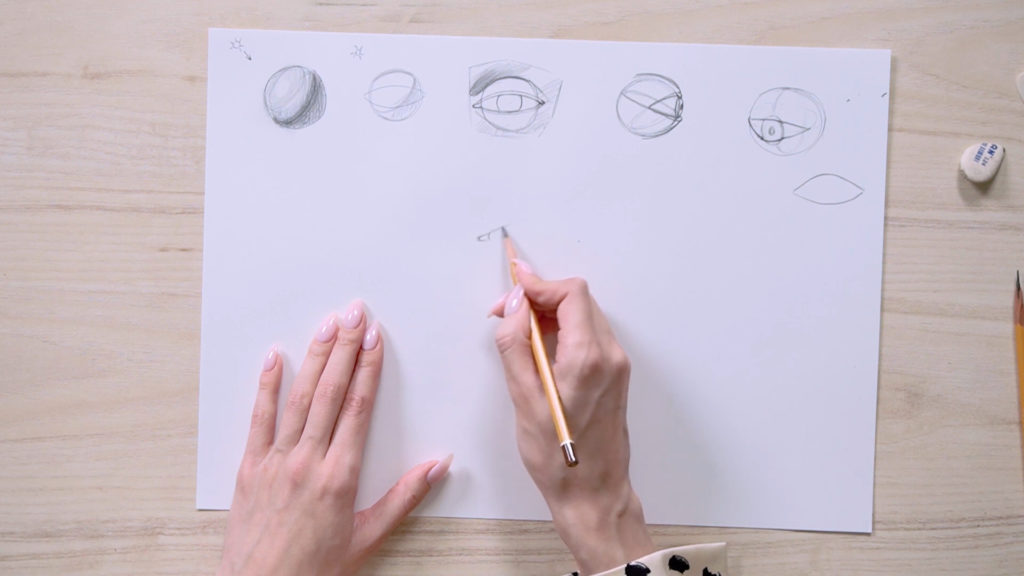 How to draw eyes with a pencil Phaood - Stage 4 - Photo