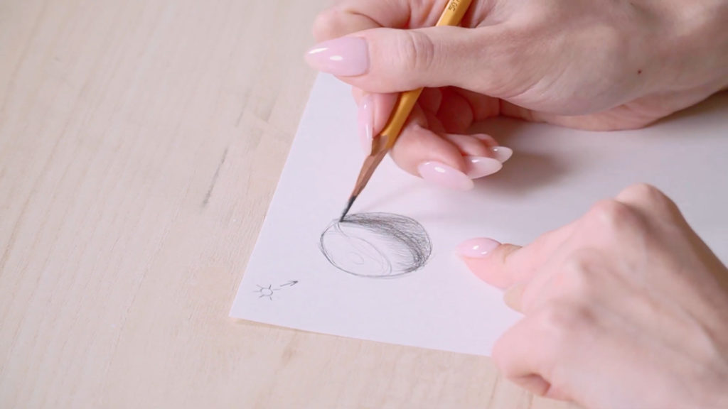 How to draw eyes a pencil Phased - Stage 1 - Photo
