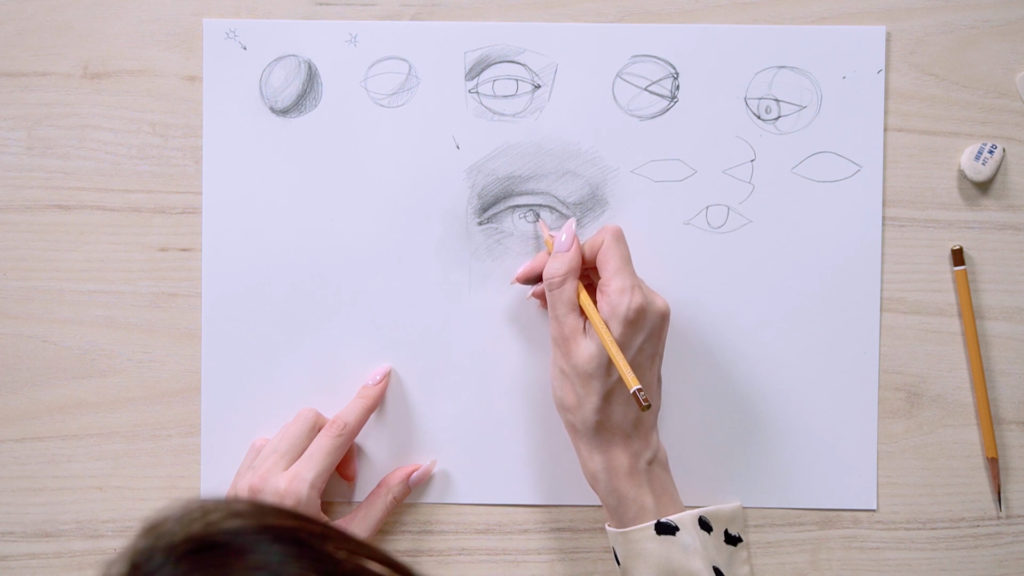 How to draw eyes a pencil Phased - Stage 11 - Photo