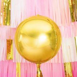PartyDeco Folie Ballon, 40 cm, guld