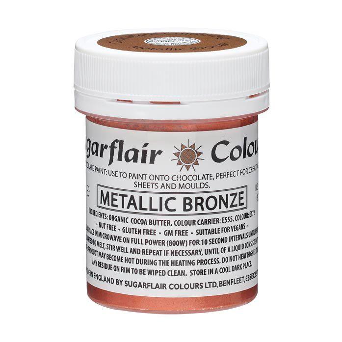 Sugarflair Bronzefarvet kakaosmoer, 35 g