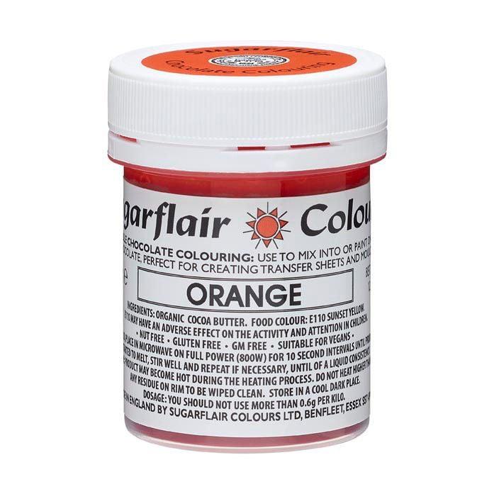 Sugarflair Chokoladefarve - Orange, 35g