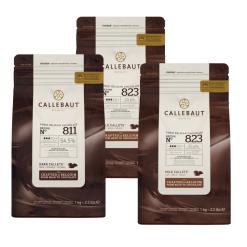 3 x Callebaut chokolade - 1 x moerk og 2 x lys