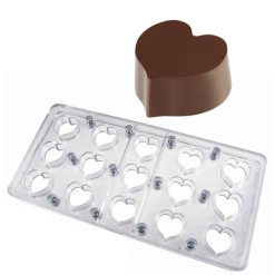Pavoni Magnetform til chokolader / Chokoladeform i Polycarbonate MM14 - Hjerte