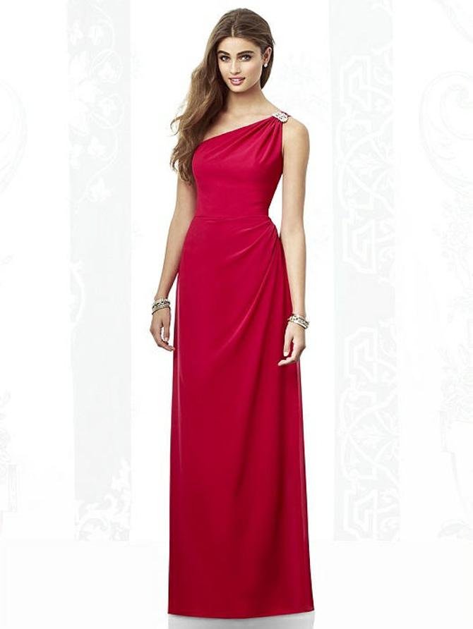 Asymmetrical One Shoulder Wedding Dress