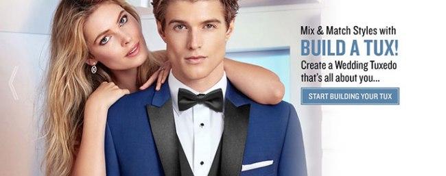 build your cusotm rental tuxedo
