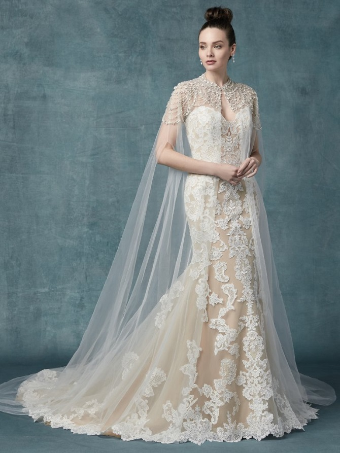 NYBG-Raleigh-wedding-dress-with-cape-Maggie-Sottero-Janson