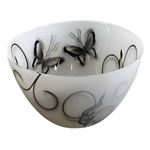 Butterfly Skål svart-vit