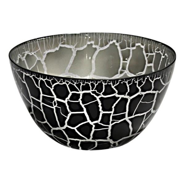 Croco Skål svart-silver