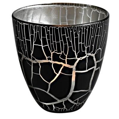 Croco Ljuslykta svart-silver