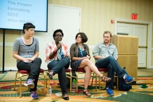 wcnyc, wordcamp nyc 2014, Lara Schenck, Tricia Okin, Melissa Hsiung, Ben Freda