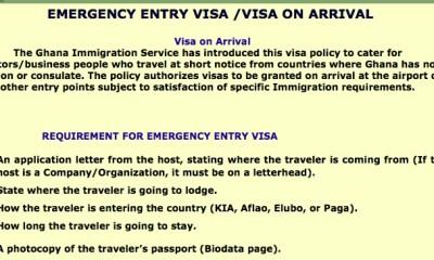 visa on arrival in Ghana